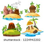 set of isolated island... | Shutterstock .eps vector #1224942202