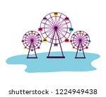 fun fair carnival | Shutterstock .eps vector #1224949438