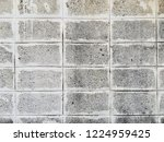 old white cement block wall... | Shutterstock . vector #1224959425
