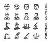 zombies icon set | Shutterstock .eps vector #1224961558