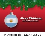 vector border of christmas tree ... | Shutterstock .eps vector #1224966538