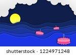 loy kratong thailand festival ... | Shutterstock .eps vector #1224971248