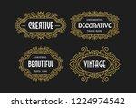 beautiful set vintage ornament... | Shutterstock .eps vector #1224974542