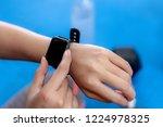 closeup of smartwatch on a... | Shutterstock . vector #1224978325