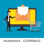 businessman with computer...   Shutterstock .eps vector #1225006612