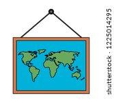 school board with atlas   Shutterstock .eps vector #1225014295