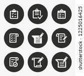 survey vector icon. set of fill ... | Shutterstock .eps vector #1225016425