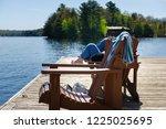 teenager girl relaxing on a...   Shutterstock . vector #1225025695