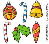 new year. christmas. hand... | Shutterstock .eps vector #1225025992