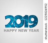 merry christmas. pig. 2019. new ... | Shutterstock .eps vector #1225026952