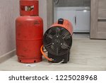 repairmen install stretch... | Shutterstock . vector #1225028968