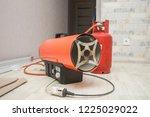 repairmen install stretch... | Shutterstock . vector #1225029022