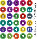 white solid icon set  water tap ... | Shutterstock .eps vector #1225033675