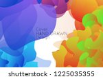 abstract cover template with... | Shutterstock .eps vector #1225035355