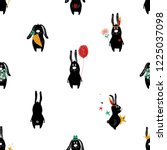 seamless pattern with cute... | Shutterstock .eps vector #1225037098