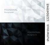 vector polygon abstract... | Shutterstock .eps vector #1225045945