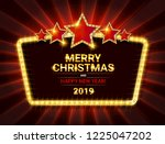invitation merry christmas... | Shutterstock . vector #1225047202