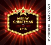 invitation merry christmas... | Shutterstock . vector #1225047205