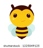 illustration of a friendly cute ... | Shutterstock .eps vector #1225049125