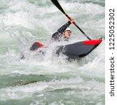 descente in kayak | Shutterstock . vector #1225052302