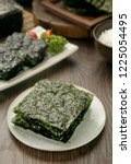 dried seaweed on a plate   Shutterstock . vector #1225054495