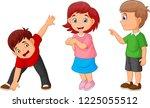 cartoon happy children | Shutterstock .eps vector #1225055512