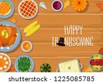 thanksgiving greeting card... | Shutterstock .eps vector #1225085785