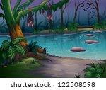 illustration of mysterious... | Shutterstock .eps vector #122508598