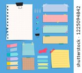 colorful blank paper notes... | Shutterstock .eps vector #1225094842