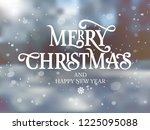 merry christmas and happy new... | Shutterstock .eps vector #1225095088