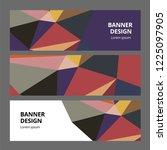 abstract modern banner... | Shutterstock . vector #1225097905