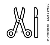 surgical instruments icon... | Shutterstock .eps vector #1225119592