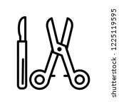 surgical instruments icon... | Shutterstock .eps vector #1225119595