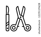 surgical instruments icon... | Shutterstock .eps vector #1225119628