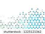 light blue vector cover with... | Shutterstock .eps vector #1225121362