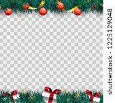 frame of christmas tree... | Shutterstock .eps vector #1225129048