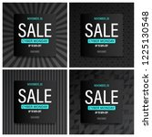 cyber monday sale banner and... | Shutterstock .eps vector #1225130548