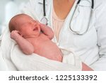 pediatrician doctor with... | Shutterstock . vector #1225133392