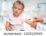 pediatrician doctor is... | Shutterstock . vector #1225133545