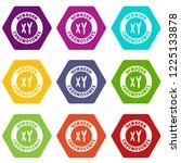 newborn chromosomes icons 9 set ... | Shutterstock .eps vector #1225133878