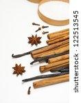 gingerbread cookie ingredients...   Shutterstock . vector #122513545