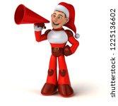 fun super santa claus   3d... | Shutterstock . vector #1225136602
