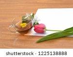 a clean sheet of paper on a... | Shutterstock . vector #1225138888