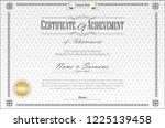 certificate or diploma retro... | Shutterstock .eps vector #1225139458