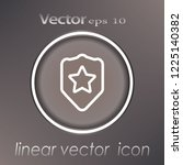 shield and star vector icon | Shutterstock .eps vector #1225140382