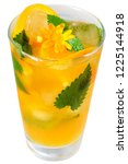 orange cocktail decorated with... | Shutterstock . vector #1225144918
