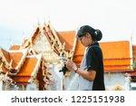 asian woman traveler preview... | Shutterstock . vector #1225151938