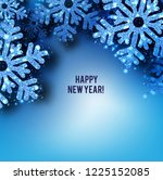 merry christmas  greeting... | Shutterstock .eps vector #1225152085