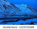 view on siglufjordur at dusk in ... | Shutterstock . vector #1225152688