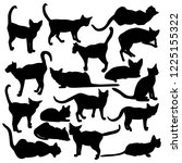 collection of vector cats... | Shutterstock .eps vector #1225155322